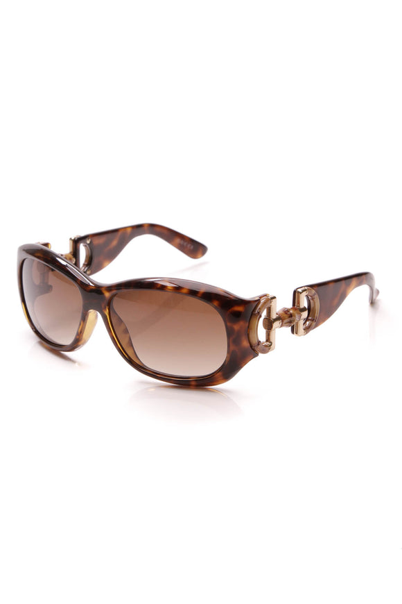 Gucci Bamboo Horsebit Sunglasses Tortoise Brown