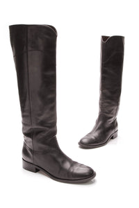 Chanel Knee High Boots Black Size 41