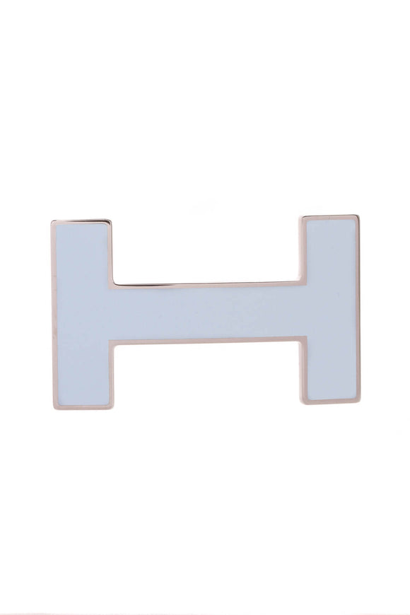 Hermes H Quizz Belt Buckle Light Blue