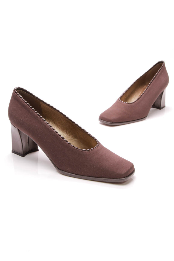 Stuart Weitzman Vintage Pumps Brown Canvas Size 10