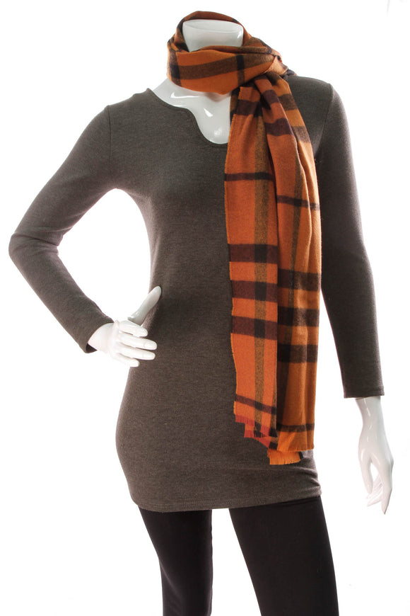 Burberry Check Scarf Orange
