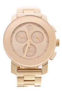 Movado Bold Chronograph Watch Gold