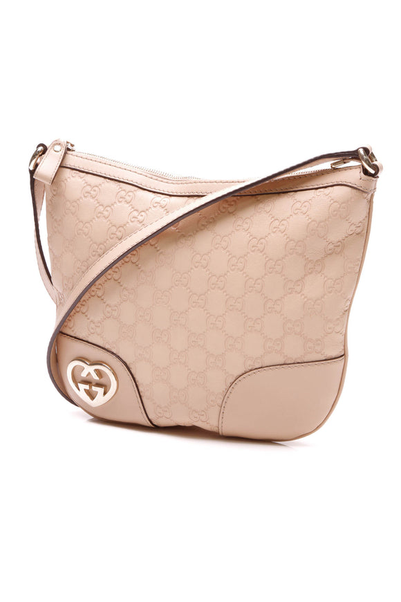 Gucci Small Lovely Messenger Bag Beige Guccissima