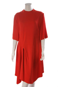 Stella McCartney Asymmetrical Dress Red Size 48