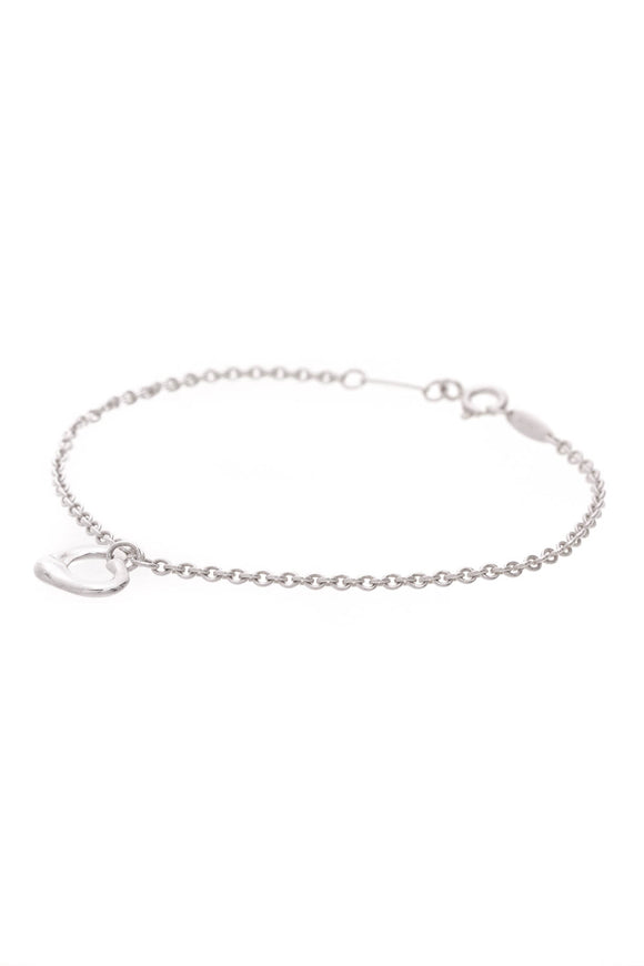 Tiffany & Co. Elsa Peretti Open Heart Bracelet Silver