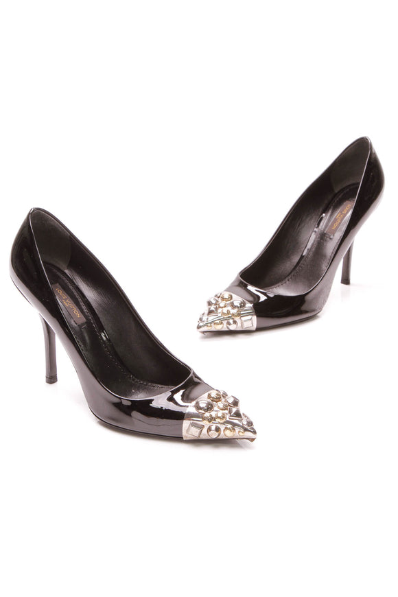 Louis Vuitton Merit Pumps Patent Leather Size 39