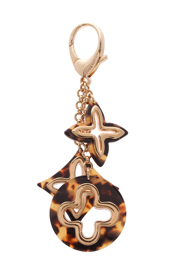 Louis Vuitton Ecaille Insolence Bag Charm Brown Gold