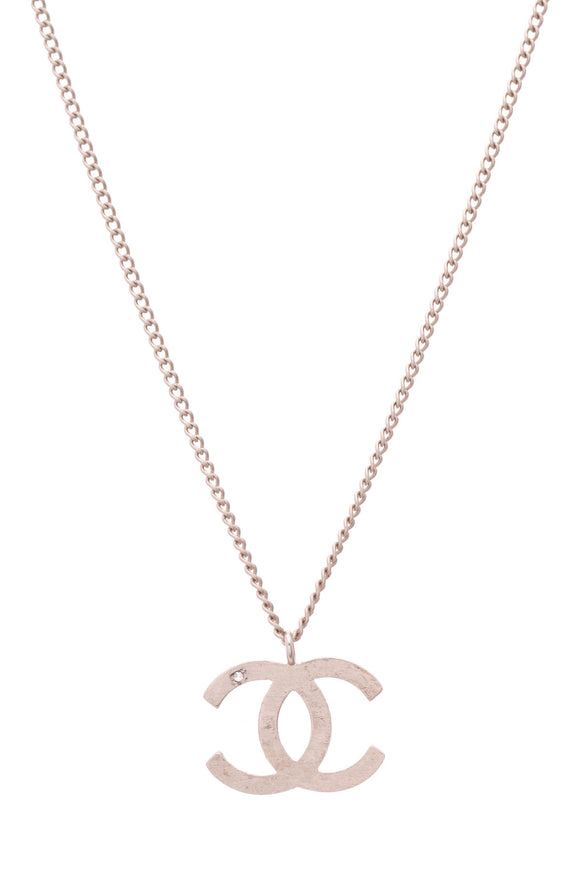 Chanel Signature CC Pendant Necklace Gold