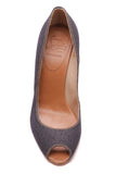 Christian Louboutin Pepi Espadrille Wedges Blue Denim Size 37