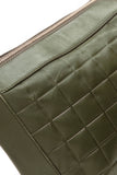 Chanel Chocolate Bar Shoulder Bag Green Lambskin