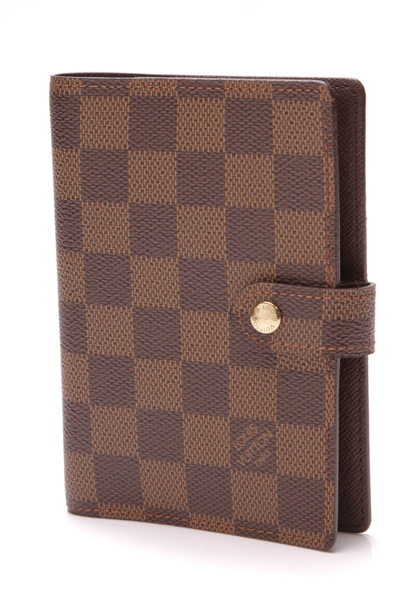 Louis Vuitton Small Agenda Cover Damier Ebene Brown