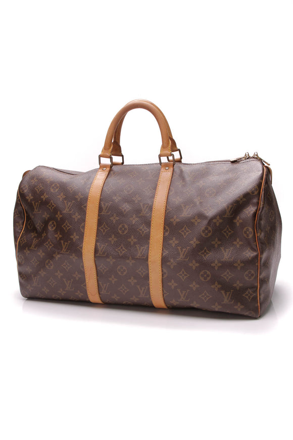 Louis Vuitton Vintage Keepall 50 Travel Bag Monogram Canvas