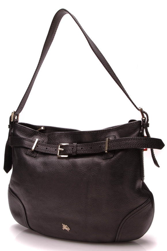 Burberry Belted Shoulder Bag Black