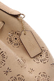 Coach Mini Bucket 16 Bag Beige Suede