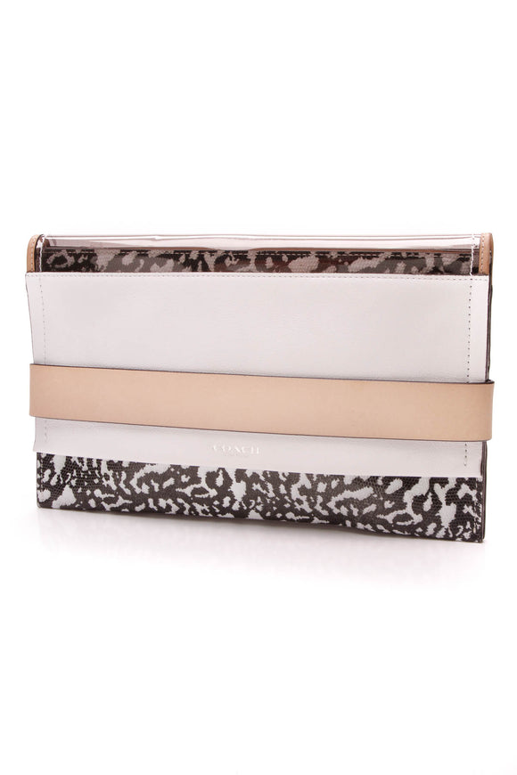 Coach Bleecker Clutch Bag Black White