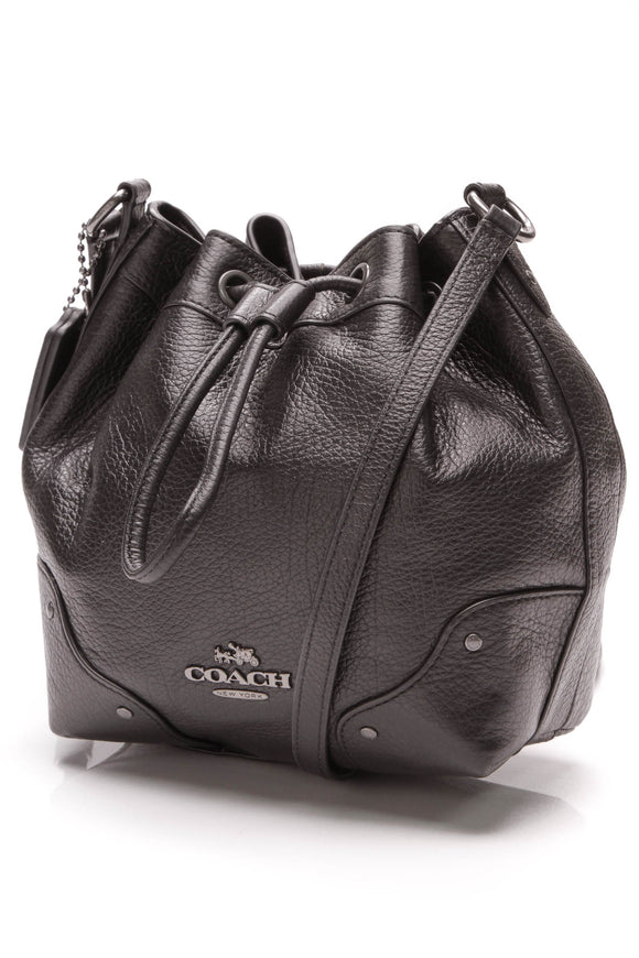 Coach Baby Mickie Drawstring Crossbody Bag Black