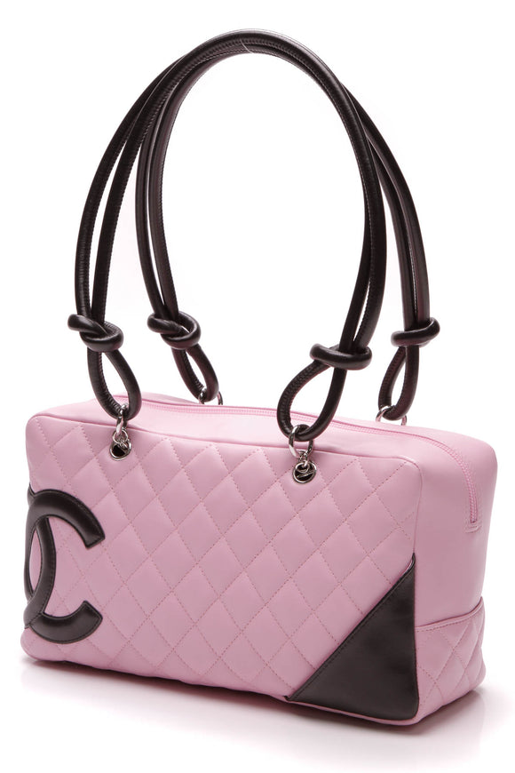 Chanel Cambon Ligne Bowler Tote Bag Pink