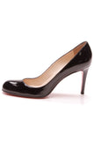 Christian Louboutin Simple Pumps Black Patent Leather Size 39