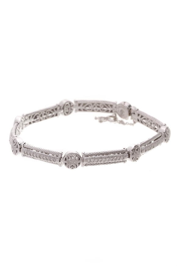 Charriol Diamond Link Bracelet 18K White Gold