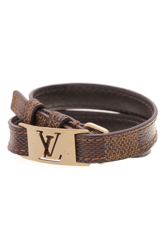 Louis Vuitton Sign It Men's Bracelet Damier Ebene