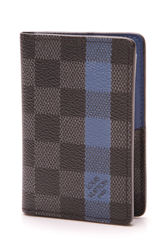 Louis Vuitton Men's Pocket Organizer Wallet Damier Graphite Stripe