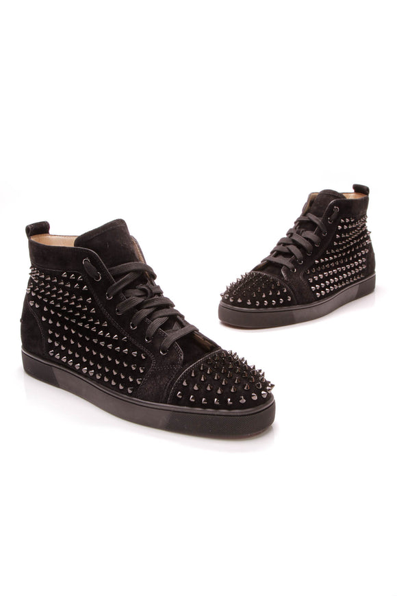 Christian Louboutin Spiked Louis Men's Sneakers Black
