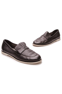 Chanel CC Loafers Black Leather