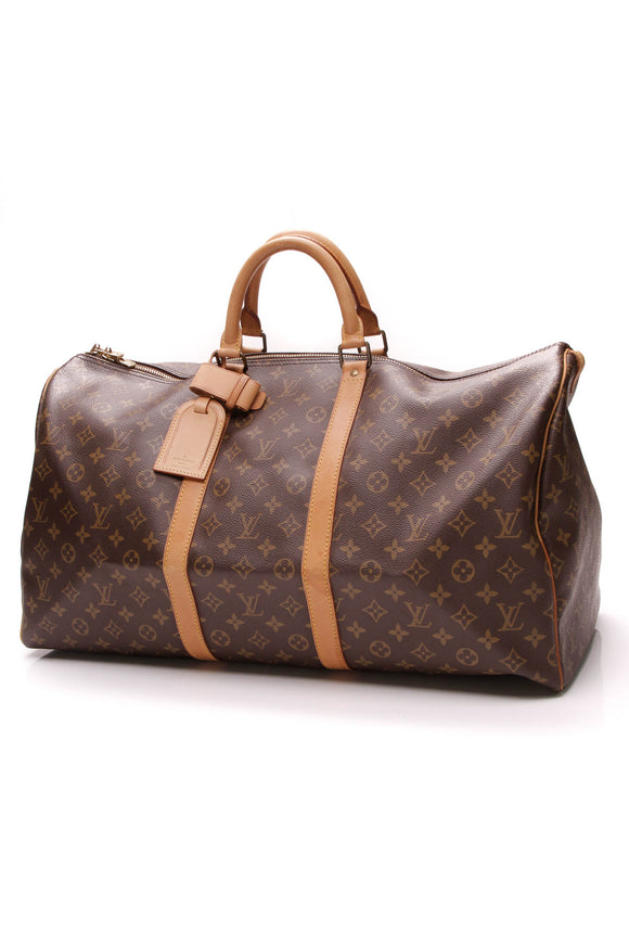 Louis Vuitton Keepall 55 Travel Bag Monogram Canvas