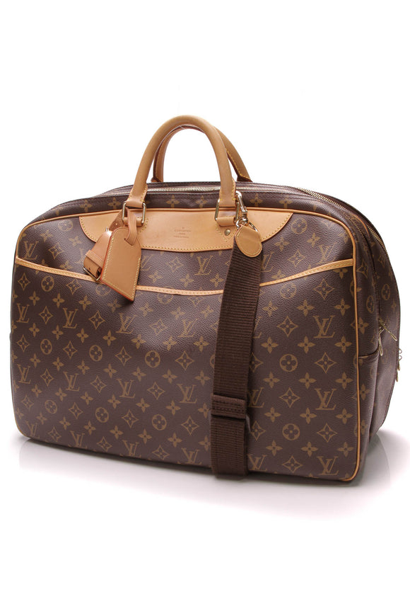 Louis Vuitton Vintage Alize 24 Heures Travel Bag Monogram Canvas