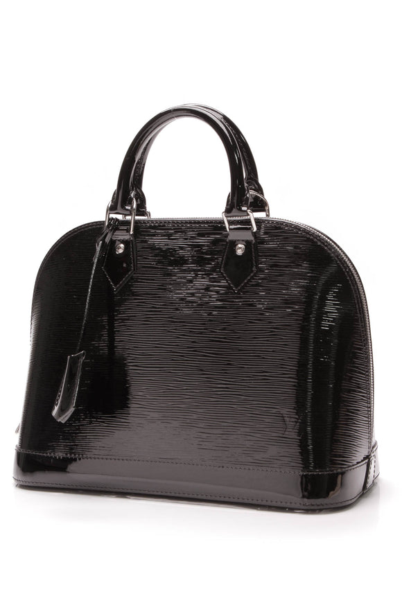 Louis Vuitton Alma PM Bag Black Epi Electric