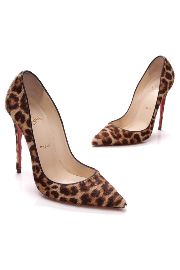 Christian Louboutin So Kate Pumps Leopard Calfhair