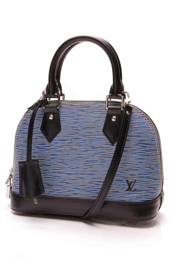 Louis Vuitton Alma BB Bag Epi Leather Denim