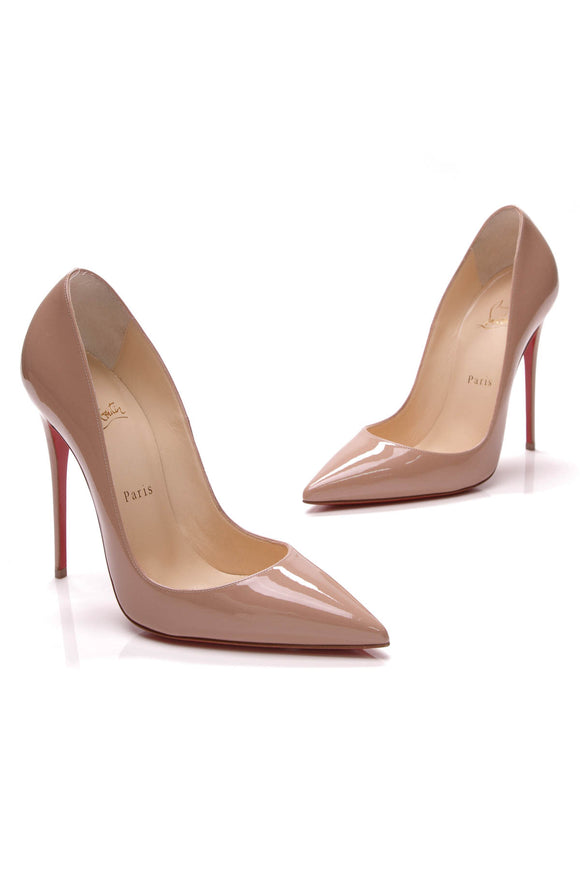 Christian Louboutin So Kate 120 Pumps Patent Leather Nude