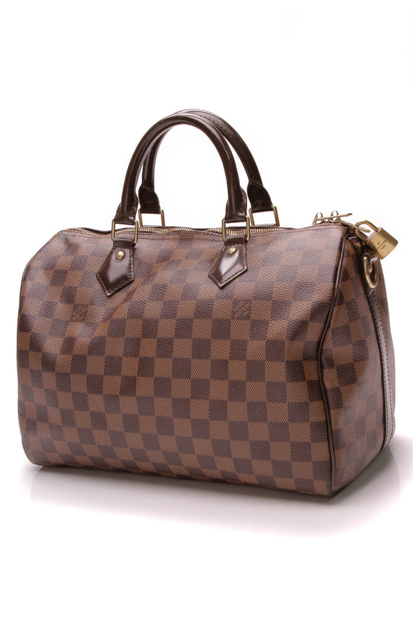 Louis Vuitton Speedy 30 Bag Damier Ebene