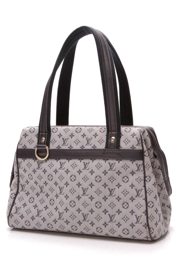 Louis Vuitton Josephine PM Bag Minilin Canvas Navy