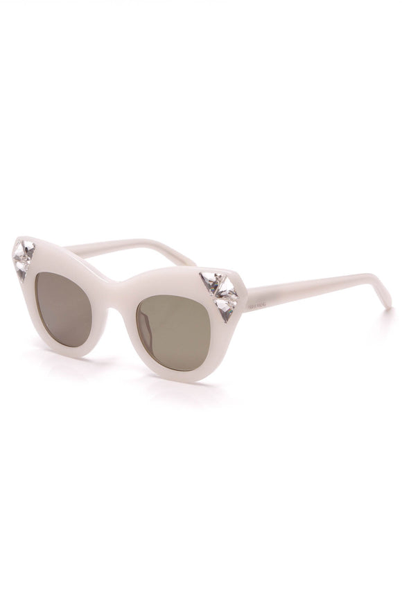 Vera Wang Nomi Crystal Sunglasses White