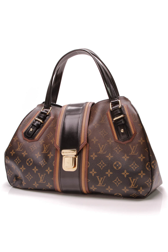 Louis Vuitton Limited Edition Griet Bag Noir Monogram Mirage Brown Black
