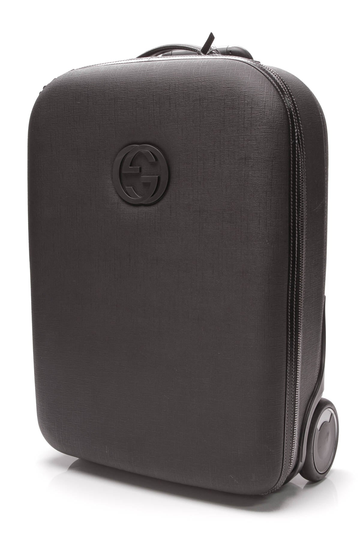 53d6ca0f8044 Gucci Viaggio Collection Rolling Luggage - Black Coated Canvas ...