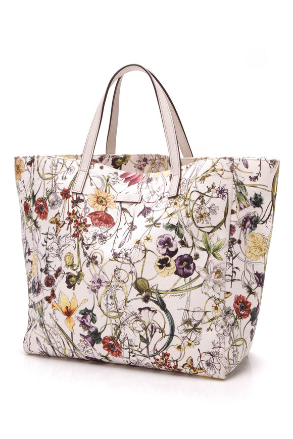 Gucci Flora Tote Bag Canvas Multicolor