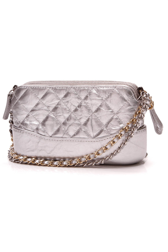 Chanel Gabrielle Shoulder Bag Silver