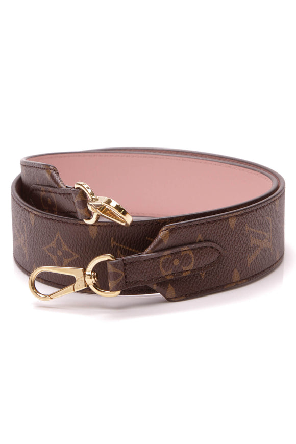Louis Vuitton Bandouliere Strap Monogram Canvas Pink Leather
