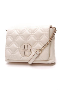 Kate Spade Astor Court Naomi Crossbody Bag Ivory Leather