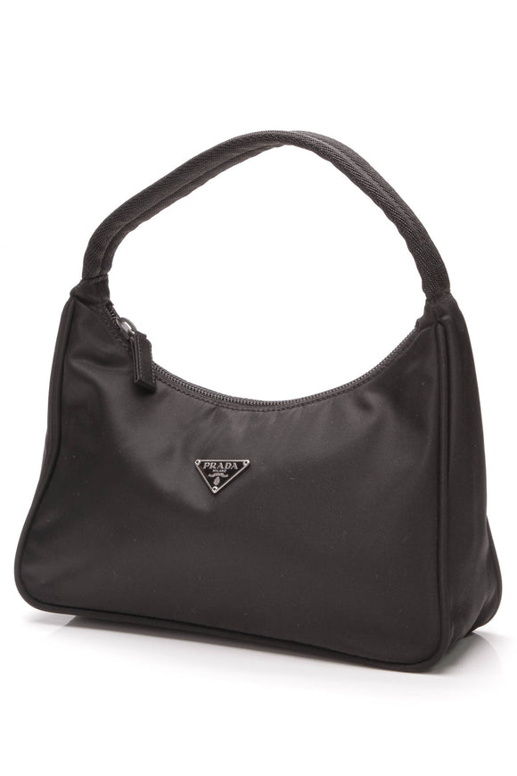 Prada Pochette Bag Nylon Black