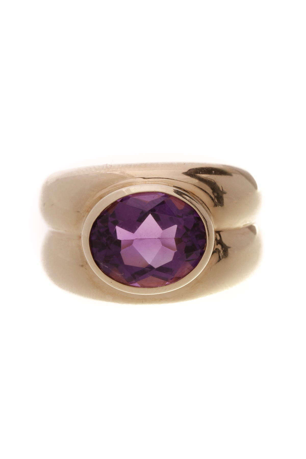 8efa1cc02 Tiffany & Co. Amethyst Ring - Yellow Gold Size 7.5 – Couture USA