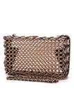 Chanel Minaudiere Evening Bag Woven Brass Leather