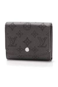Louis Vuitton Iris Compact Wallet Mahina Black