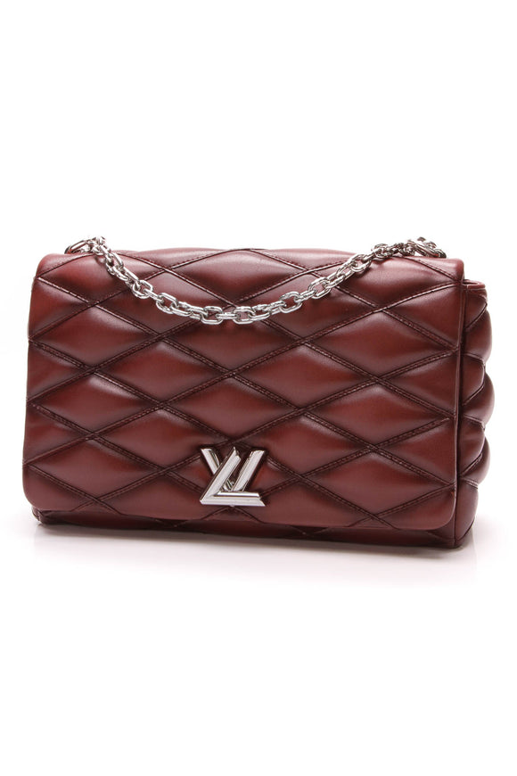 Louis Vuitton GO-14 MM Bordeaux Malletage Lambskin Red