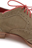 Louis Vuitton Men's Wingtip Shoes Olive Suede Size 8