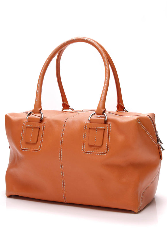 TOD'S D-Styling Bag Orange Leather