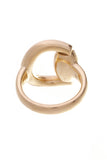 Gucci Horsebit Ring Yellow Gold Size 6.5